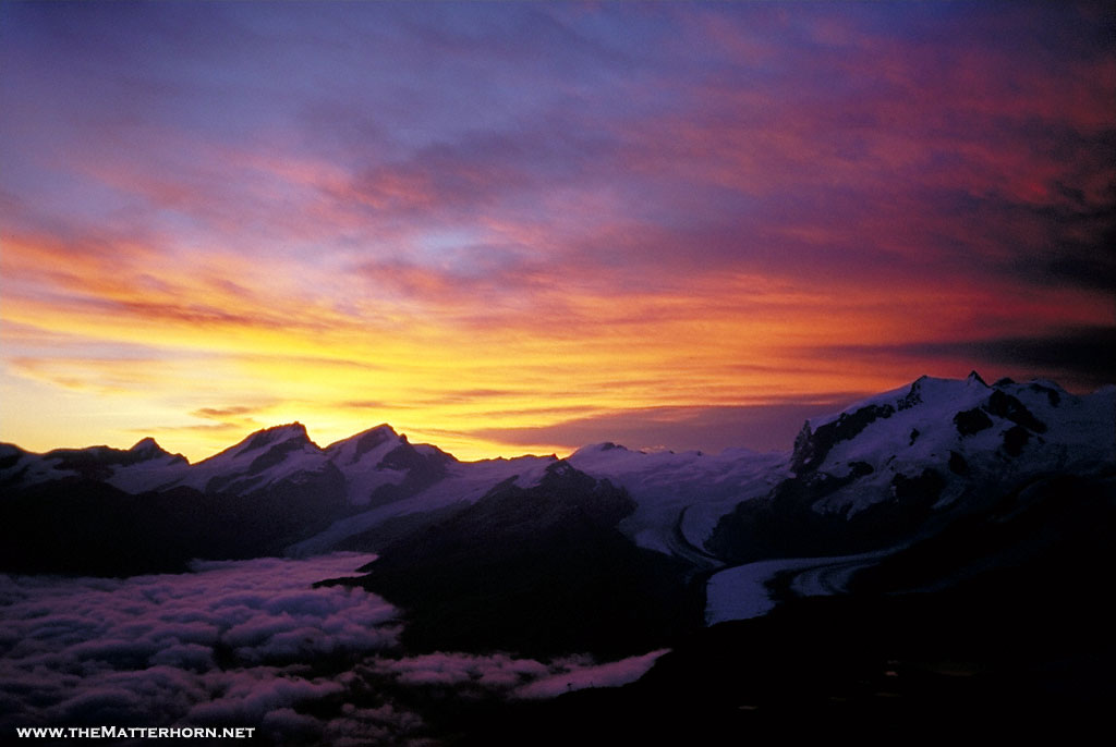 Matterhorn Climb Photos  Magic Monte Rosa sunrise