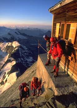Matterhorn Climb Photos Sunrise At The Solvay Hut