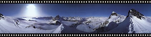 Click for a panoramic 360 degree view from the Klein Matterhorn
